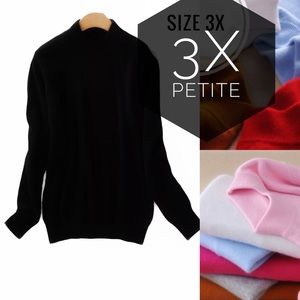 Cashmere Black Half Turtleneck Sweater Pullover